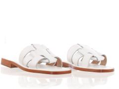 high-top sneaker van Diesel in off-white met een cream cupsole en vetersluiting.