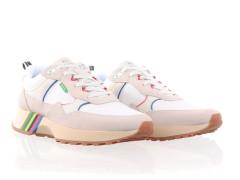 Skater-style high-top sneaker van Bronx in mintgroen/zwart leder met contrasterende accenten