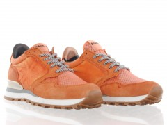 oranje washed canvas retro dames sneaker Osaka